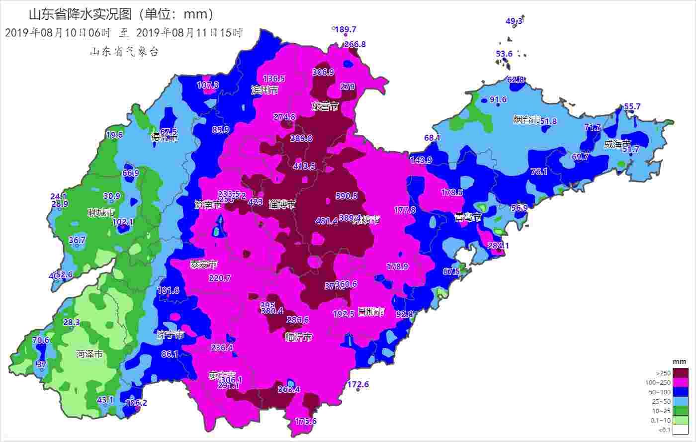 33个小时降水590.5mm 山东昌乐县城南累计降雨量维持全省最高