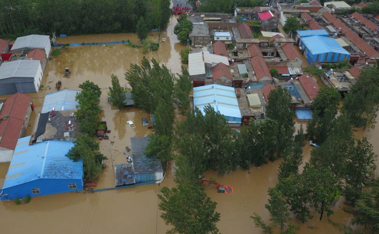 航拍|章丘相公镇皋西村等多个村被淹 990余名群众被疏散转移