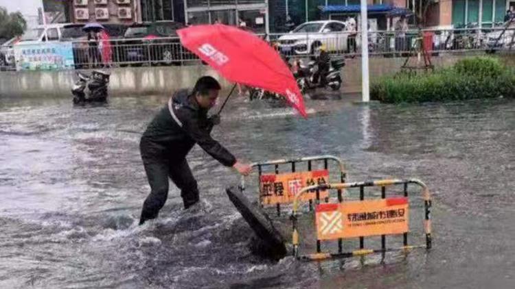 风里雨里 我在这里!济南东关街道应急救援进行中
