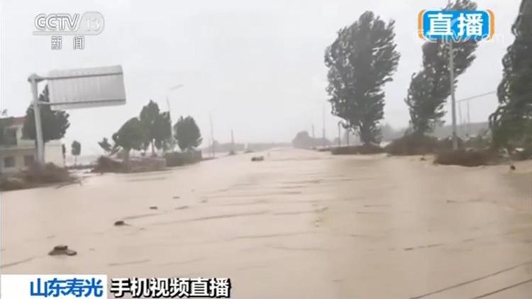 央视《新闻直播间》连线山东台记者 关注寿光水情灾情及安置情况