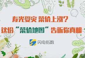 """寿光受灾致菜价上涨? 这份""""菜价地图""""告诉你真相"""