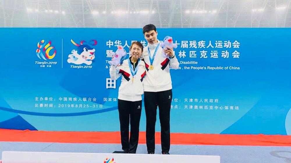 鱼跃龙门!跳高运动员黄千山首次参加残运会即获全国冠军