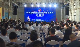 """32秒丨2019中国博山琉璃文化艺术节开幕 世界最大的""""琉璃石榴""""问世"""