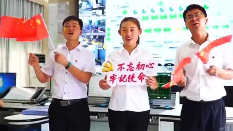 山东各地以快闪形式:祝福新中国 讴歌新时代