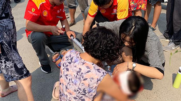 42秒丨人美心更美!陵城4岁男童遭遇车祸,热心护士路边救人