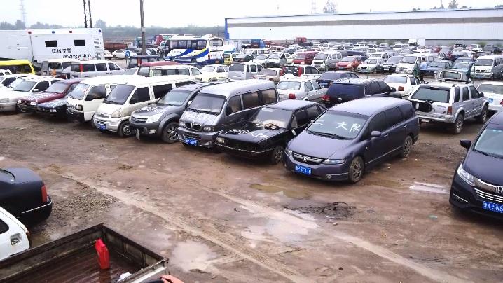 55秒 震慑交通违法!聊城集中销毁拼装报废车辆和假套牌