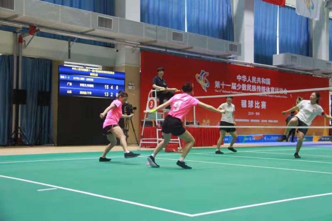 聚焦全国民族运动会 山东女子毽球成绩取得新突破