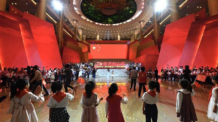 闪电号外|山东省庆祝新中国成立70周年成就展今日开幕