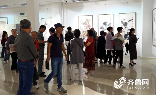 """75秒丨国画中的中国这么美!潍坊国画名家用""""妙笔丹青""""庆祝新中国成立70周年"""