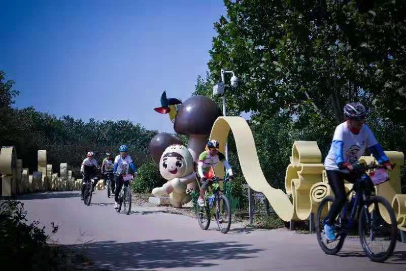 激情来袭!平阴县第九届全民健身运动会自行车友谊赛举行