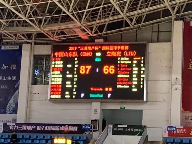 李敬宇17分!山东男篮贵州热身赛两连胜
