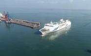 45秒 | 山東半島單體載客量最大的客貨滾裝船首次試運韓國平澤至榮成龍眼港航線