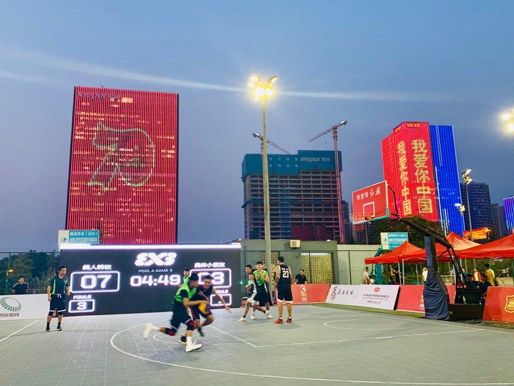 中国三人篮球挑战赛济南站奥体中心激情开战