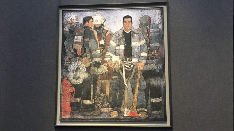 58秒 | 一幅中国画《使命》的自白:我在山东美术馆等您