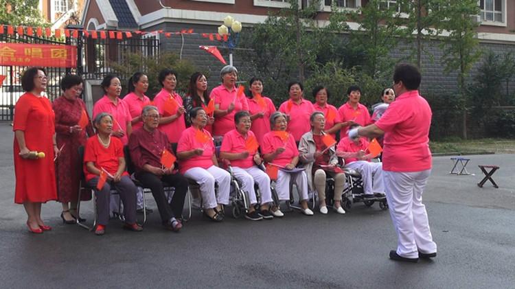 一曲红歌、一面红旗,济南空军全体退休人员唱出中国心