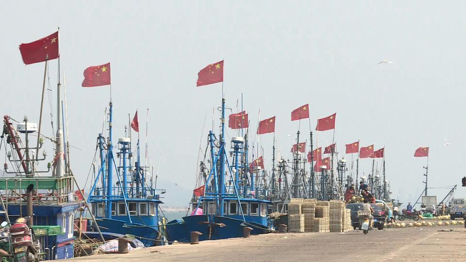 表白祖国!烟台海阳大辛家派出所在渔船举行升旗仪式