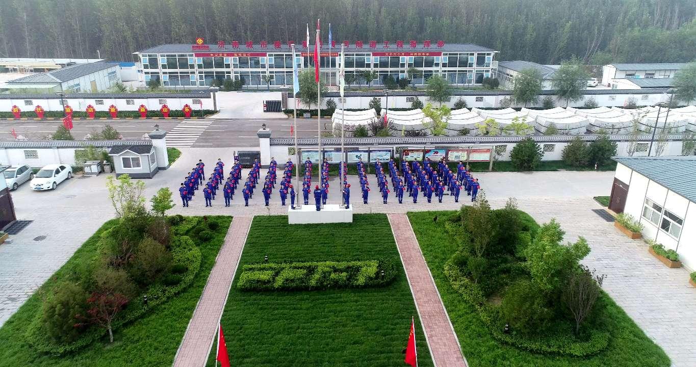 家国同梦 济南黄河隧道项目部举行升旗仪式