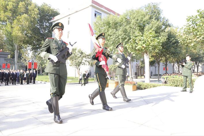 54秒 庆祝中华人民共和国成立70周年 淄博市隆重举行升国旗仪式