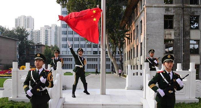 山东省公安厅举行升国旗仪式 庆祝新中国70周年华诞