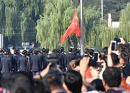 向祖国表白!济南泉城广场举行国庆升旗仪式