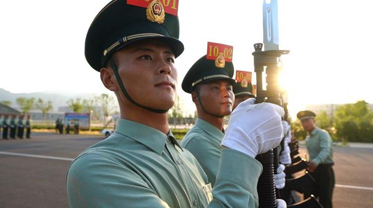 国庆阅兵武警部队方队基准兵辛超:从入选那天起我就想当基准兵