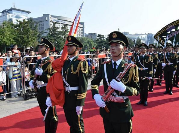 庆祝中华人民共和国成立70周年 山东省升国旗仪式隆重举行