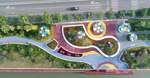 济南小清河有了打卡地 运动公园国庆节率先开放