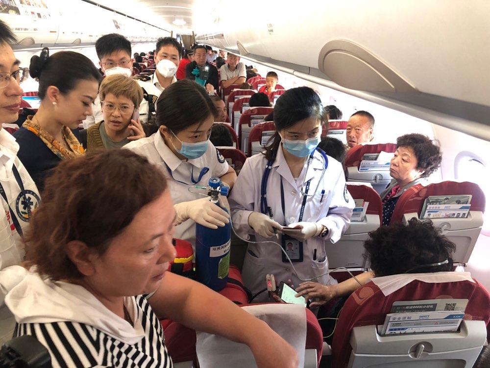 敬畏生命!青岛航空万米高空生命大救援