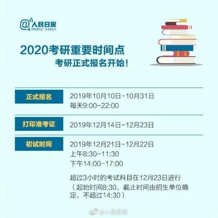 2020研招统考开始报名啦!初试笔试12月21日开考