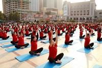 """瑜伽爱好者的天堂!济南市历城区""""体彩杯""""第四届公益瑜伽展示活动圆满开幕"""
