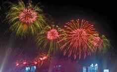 青島市政府發布通告 10月18日晚奧帆中心將舉行煙火表演