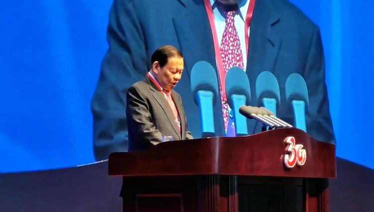 日照建市30周年   新加坡金鹰集团主席陈江和:日照必将迎来更加辉煌灿烂的明天
