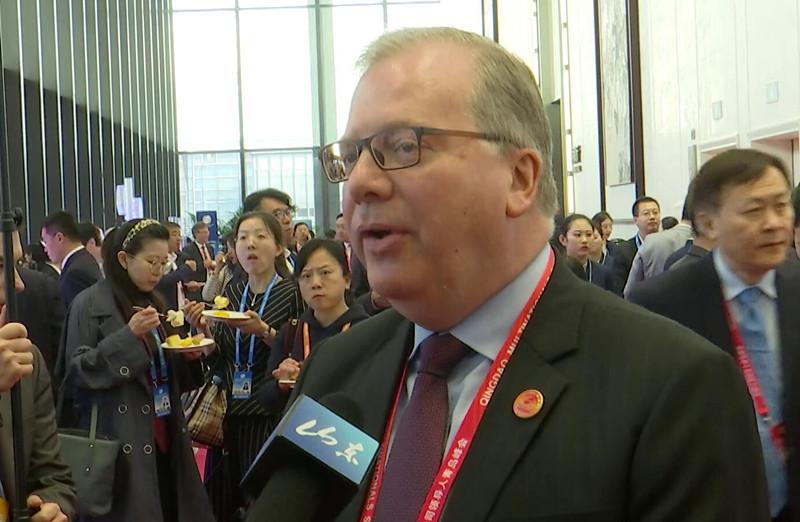 跨国公司领导人青岛峰会丨联合国驻华协调员罗世礼:峰会有利于实施联合国的可持续发展目标