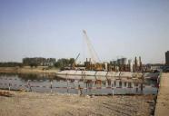 最新进展:潍坊寿光金光街跨弥河大桥将于本月完成桩基及拱座施工