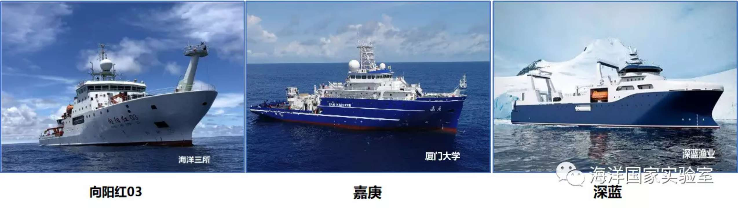 海洋试点国家实验室深远海科学考察船队新增三艘成员船