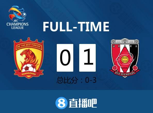 塔利斯卡中框 恒大0-1浦和总比分0-3无缘亚冠决赛