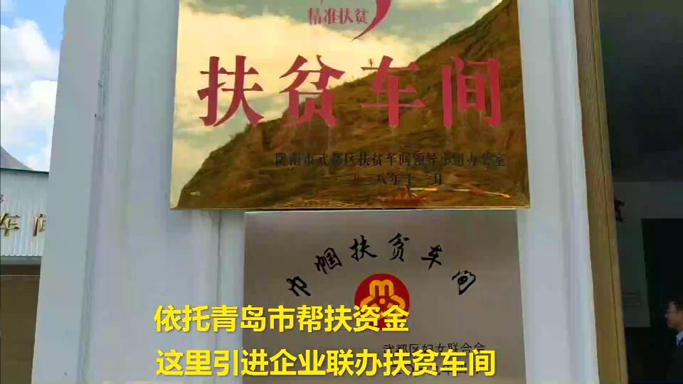 65秒丨扶贫车间开到家门口 青岛帮扶助力陇南藏乡脱贫致富