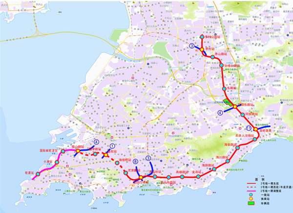 青岛地铁2号线延长段开建  助力邮轮母港开发建设