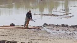 40秒|引黄灌溉致沉砂池淤积严重 聊城阳谷掀起清淤会战