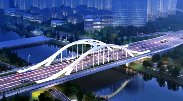 临沂滨河路涑河桥主线今日正式通车 双向7车道缓解交通拥堵