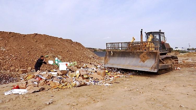 84秒丨货值逾百万元!8000余件假冒伪劣食品在潍坊被集中销毁