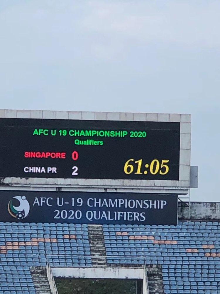 亚青赛预赛国青2-0新加坡 末战与韩国争小组第一