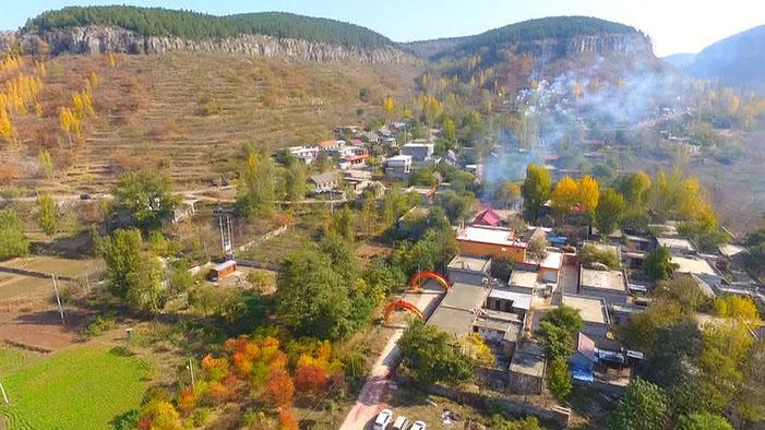 醉美初冬 | 航拍视角看山亭葫芦套村,乡村美景尽收眼底