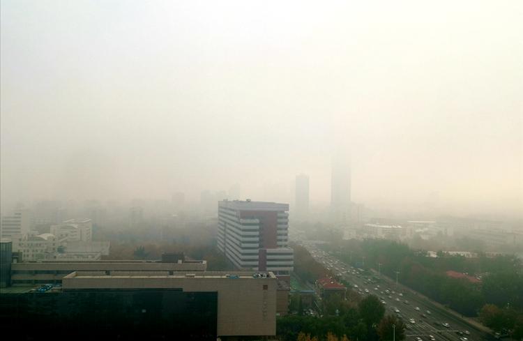 """组图:山东大雾来袭!雾气笼罩下楼宇开启""""隐身模式"""""""