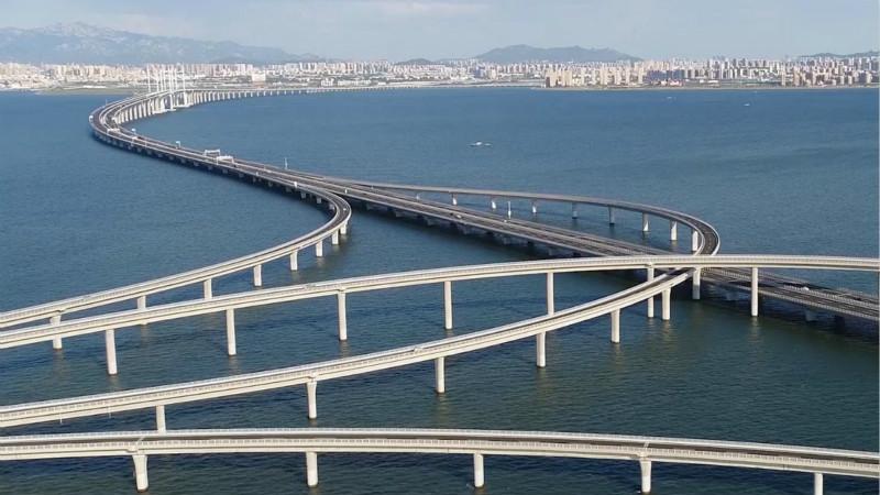 """这就是山东丨""""海上长虹""""胶州湾大桥:用一座桥跨越海洋"""