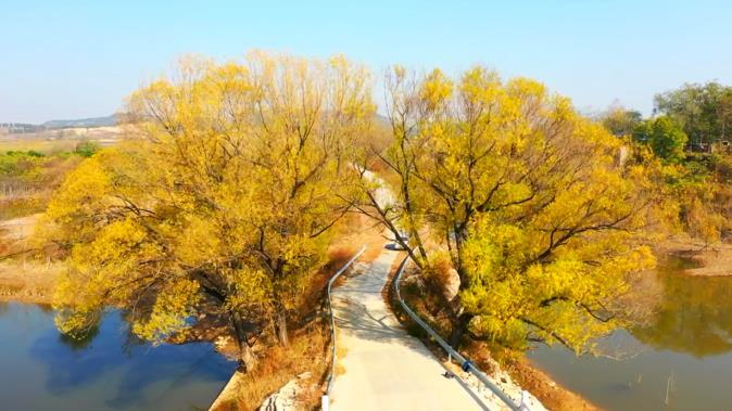 这就是山东|平阴玫瑰镇翠屏山玉带河初冬美景,带来不一样的美