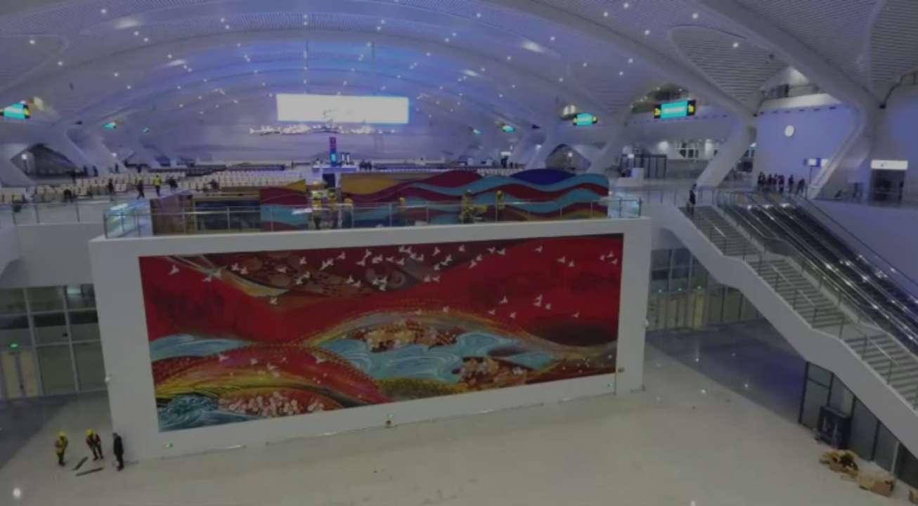 鲁南高铁临沂北站进入通车倒计时!32秒视频带您感受高铁站的红色文化元素