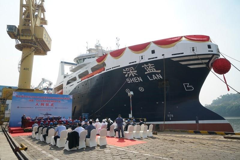 """""""深蓝""""号远洋渔船入列海洋试点国家实验室科考船队"""