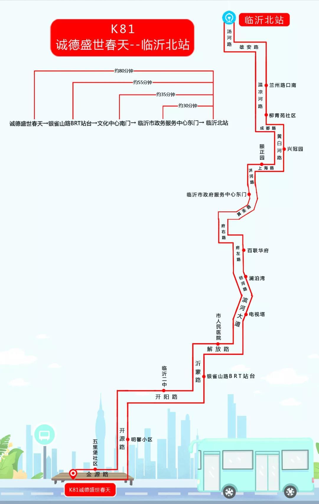 临沂公交高铁线路26日将正式开通运营 线路图已画好 请保存