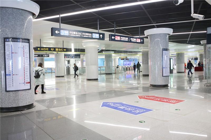 上网更快啦!青岛地铁五四广场站实现5G网络全覆盖